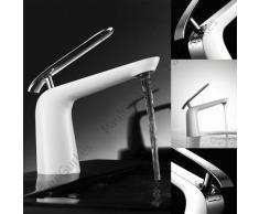 PaulGurkes Design Waschtischarmatur weiss/chrom