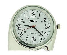 OLIVIA Clip Arzt-, Krankenschwesteruhr, silberfarben TOC85
