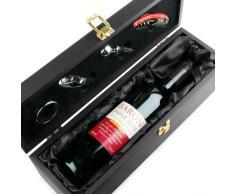 Weinflaschen Box U0026 Zubehör Mit Kellnermesser/Korkenzieher,  Flaschenverschluss, Ausgießer Mit Spund Und