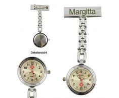 Krankenschwester Quarz Uhr mit Gravur . Schwestern , Pfleger Quarzuhr Metall mit Ihrer Wunschgravur