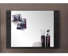 trendteam XP45169 Wandspiegel Garderobenspiegel mit Ablage Esche grau Nachbildung, BxHxT 89x65x15 cm