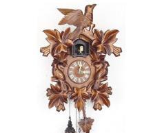 Schwarzwälder Kuckucksuhr aus Echtholz mit batteriebetriebenem Quartzwerk und Kuckuckruf - Angebot von Uhren-Park Eble - Engstler -Dreivogel 40cm- 638 Q