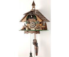 Schwarzwälder Kuckucksuhr aus Echtholz mit batteriebetriebenem Quartzwerk und Kuckuckruf - Angebot von Uhren-Park Eble -Schwarzwaldhaus 32cm-