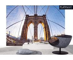 Eurographics DW-REI1001 Deco Wall Fototapete Brooklyn Bridge 254 x 366 cm