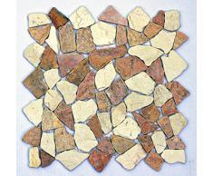 M-004 Marmor Mosaik Fliesen Naturstein Bad Stein Wand Boden Deko Design