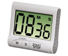 Xavax Digitaler Küchentimer (Timer- und Stopp-Uhr-Funktion, Countdown) weiß