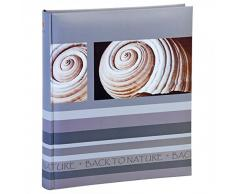 HENZO Fotoalbum Back2Nature - für bis zu 500 Fotos 10x15 - 33 x 29,5 cm HxB - 100 Seiten - blau, grau oder braun, Farbe:Grau
