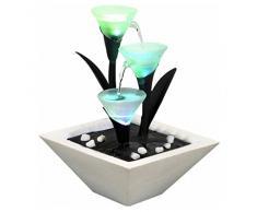 Zen'Light SCFV3TL Tulipa Zimmerbrunnen, weiß, 25 x 25 x 28 cm
