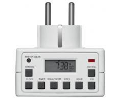 Goobay 93256 Digitale Wochenzeitschaltuhr, Zeitschaltuhr, präzise Steuerung von elektronischen Geräten, im unauffälligem Design, 1 Stück, weiß