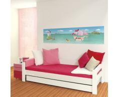 Wandpiraten Kinder Wandbild Fototapete Pink Pirates 200 x 46,5 cm