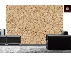 Eurographics DW-DT3066 Deco Wall Fototapete Log Wall Collage 254 x 366 cm