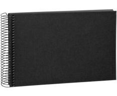 Goldbuch Spiralalbum, Bella Vista, 24x17 cm, 40 schwarze Seiten, Leinen, Schwarz, 20 997