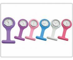 Schwestern-Uhr, Schwesternuhr Silikon, verschiede Farben (hellblau)