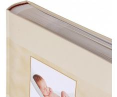 HENZO Einsteckalbum EVA BORN Sweet Dreams BEIGE - Baby Album - für 200 Fotos 10 x 15 cm - Babyfotoalbum - Fotoalbum