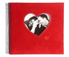 Goldbuch 23766 Spiralalbum Rosso, circa 29 x 28 cm, 40 schwarze Seiten, rot