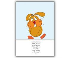 1 Osterkarte: Niedliche Oster Spruch Klappkarte mit Osterhasen • schöne Gruss Klappkarte mit Umschlag für beste Freunde und Lieblingsmenschen
