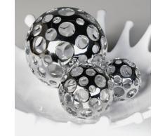 Dekokugel *Holes* Deko Kugel Gartenkugel Silber - D10cm