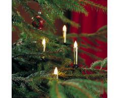 Konstsmide 2316-800 Goldfarbene Baumkette mit gefrosteten Birnen und Wachsoptik/für Innen (IP20) / 230V Innen / 20 gefrosteten Birnen/grünes Kabel