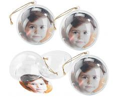 Your Design Deko-Kugel: 8er-Set transparente Weihnachtsbaum-Kugel für Ihre Fotos (Deko-Kugeln)