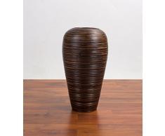 Dekovase 38 cm, Mangoholz, Braun