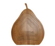 GMMH Faltkorb Bambus Obstkorb Dekoschale Obstschale Holz faltbar (Design Birne)
