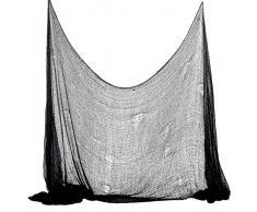 Foxxeo 35012X | Halloween Deko Stoff Dekostoff Tuch Decke Horror Halloweenstoff schwarz, Farbe:Grau