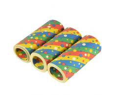 PAPSTAR 3 Riesenluftschlangen 15 m Confetti flammhemmend, Sie erhalten 10 Packungen á 3 Stück (insgesamt 30 Stück)