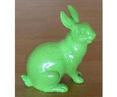 Shabby Hase grün - Retro Look - sitzend ca. 15 cm - Dekofigur - der etwas andere Osterhase