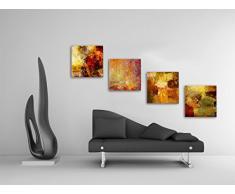 Abstrakt   Set B Schwebend, 4 Teiliges Bilder Set Je Teil 19x19cm,
