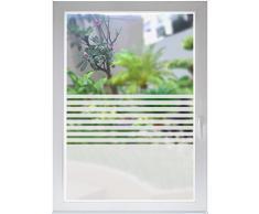 INDIGOS UG Sichtschutzfolie Glasdekorfolie Fensterfolie Stripes satiniert blickdicht ORACAL® - 800mm Breite x 500mm Höhe - auch mit Individueller Breite