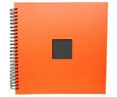 HENZO XXL Spiralalbum orange - 34 x 36,5 cm - 42 schwarze Seiten - Fotoalbum - Album - für bis zu 250 Bilder 10 x 15 cm - Spiralfotoalbum