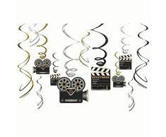 NEU Girlanden-Set Hollywood spiralförmig, 12 Stk.
