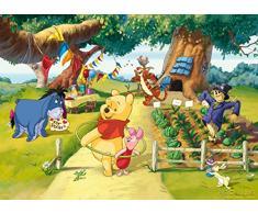 AG Design FTDm 0710 Disney Winnie Puuh, Papier Fototapete Kinderzimmer- 160x115 cm - 1 Teil, Papier, multicolor, 0,1 x 160 x 115 cm