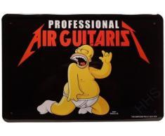 Blechschild Air Guitaris The Simpsons Luftgitarre 20 x 30cm Reklame Retro Blech 123