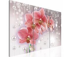 Bilder 120 x 80 cm NEUE KOLLEKTION Flower Symphony - 3 Farben zur Auswahl - XXL Bild auf Vlies Leinwand, Wandbild, Blumen Orchidee 3 Teilig !!! 100% MADE IN GERMANY !!! 208131a