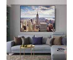 Danjiao New York City Manhattan Gebäude Leinwand Gemälde Sonnenuntergang Wolke Poster Und Drucke Skandinavischen Wandkunst Bild Für Wohnzimmer 60x90cm