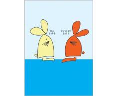 Im 5er Set: Humorvolle Osterkarte mit zwei Osterhasen