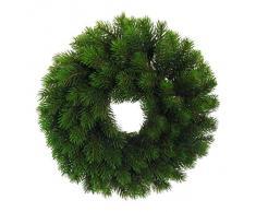 Künstlicher TANNENKRANZ ca 36 cm. 100 Triebe. Als Türkranz, Adventskranz, Weihnachtskranz, Kranz.
