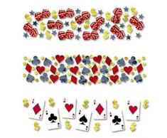 NET TOYS Casino Konfetti Place Your Bets 34 g Papierkonfetti Partykonfetti Event Tischdeko Spieleabend Dekokonfetti Mottoparty Streudeko Zockerabend Tischkonfetti Zockerabend