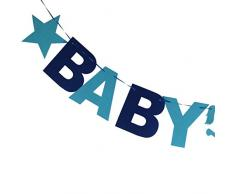 Baby Boy Bunting Girlande Banner Baby Shower Party Dekoration