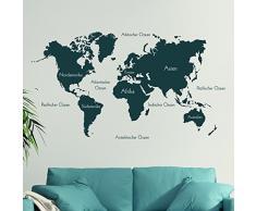 wandtattoo weltkarte mit beschriftung reuniecollegenoetsele. Black Bedroom Furniture Sets. Home Design Ideas