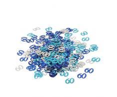 MagiDeal Jahrestag Geburtstag Weihnachten Hochzeit Party Mettalic Confetti Tischdeko Konfetti - Blau+Silber 60