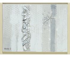 Wunderschönes Leinwandbild ~ maritim ~ mit Struktur Bild Muscheln + Seestern (Modell: Motiv 2)