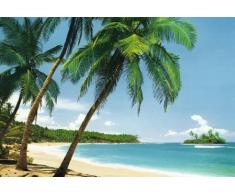 1art1 40554 Inseln - Tropische Insel 8-teilig, Fototapete Poster-Tapete (368 x 254 cm)