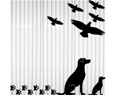 Set 15 Teile Vogel Vögel Hund Hunde Pfötchen Aufkleber die cut Tattoo Warnvögel Fenster Schutz Deko Folie