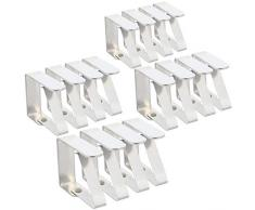 com-four® 16x Premium Tischdeckenklammer - Tischklammern aus Edelstahl - Tischtuchklammer rostfrei für drinnen und draußen