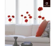 Eurographics WS-DT7043 wiederverwendbares Fenster Bild/Aufkleber, Poppies Family, 50 x 70 cm