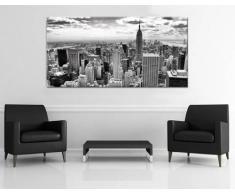 Leinwandbild New York City Schwarz-Weiß B x H: 160cm x 80cm von Klebefieber®