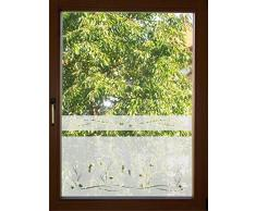 Fensterfolie Aufkleber Glasdekor blickdichte Sichtschutzfolie Dekorfolie Motiv 604/50 cm hoch für Badezimmer (keine billige Milchglasfolie)