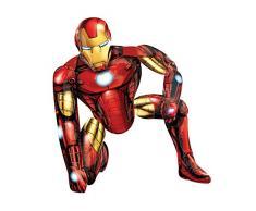 Anagram 11006201 - Party und Dekoration - Folienballon Air Walker - Avangers Assemble - Iron Man, circa 93 x 116